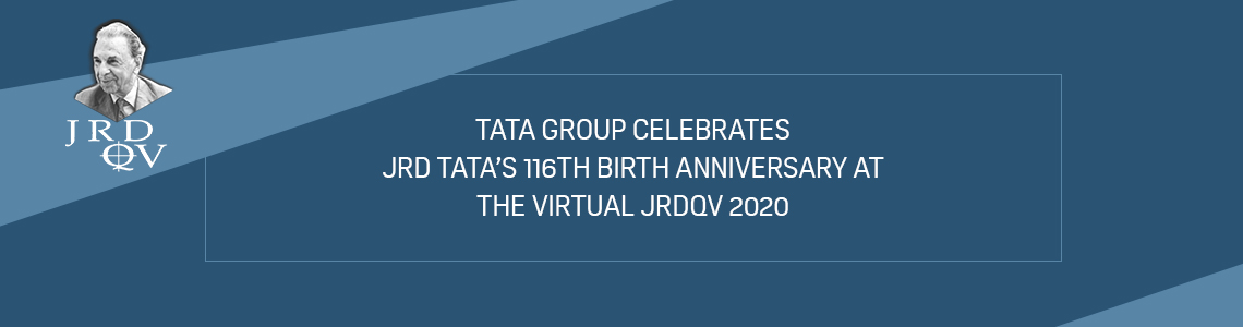Tata Group celebrates JRD Tata's 116th birth anniversary at the virtual JRDQV 2020