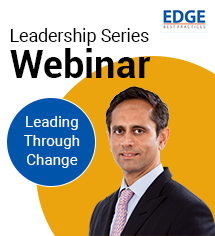 'People love change', says Vinod Kumar in his Leadership Series EDGE webinar